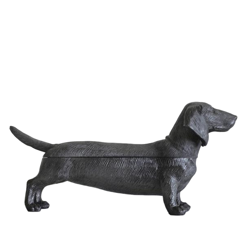 White Moose | Dachshund Secret Bowl - Black | Shut the Front Door