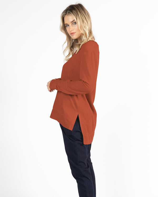 Betty Basics | Zara Waffle Top - Terracotta | Shut the Front Door