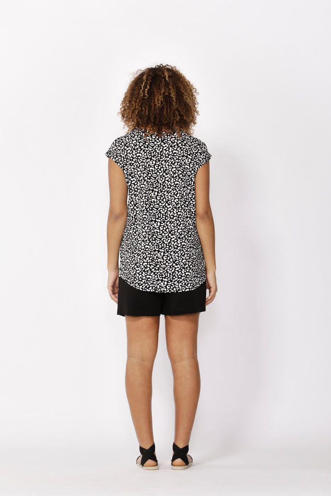 Betty Basics | Zadar Tee - Brush Print | Shut the Front Door