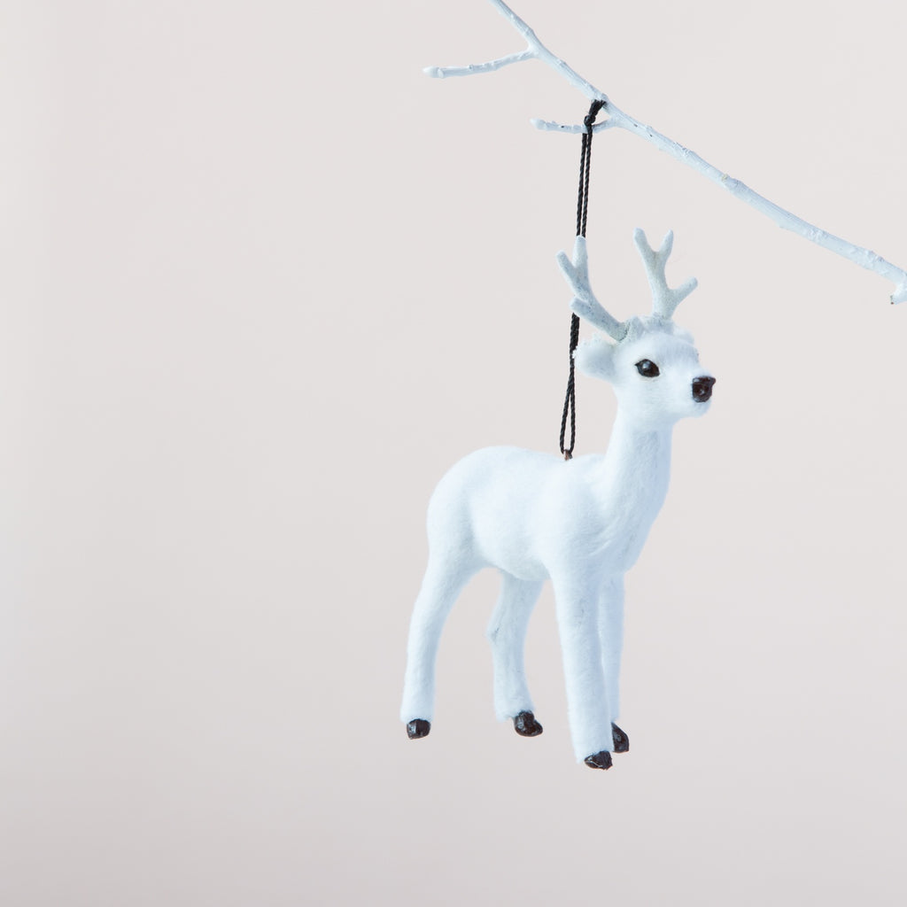 Down to the Woods | Reindeer Decoration White | Shut the Front Door