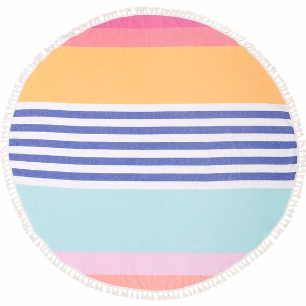 Sunnylife | Round Fouta Towel Catalina | Shut the Front Door