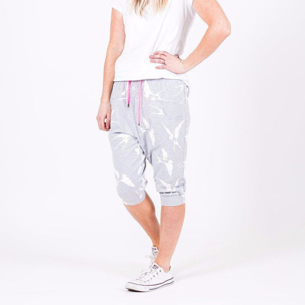 Home-lee | 3/4 Apartment Pant Grey White Bird *PREORDER* | Shut the Front Door