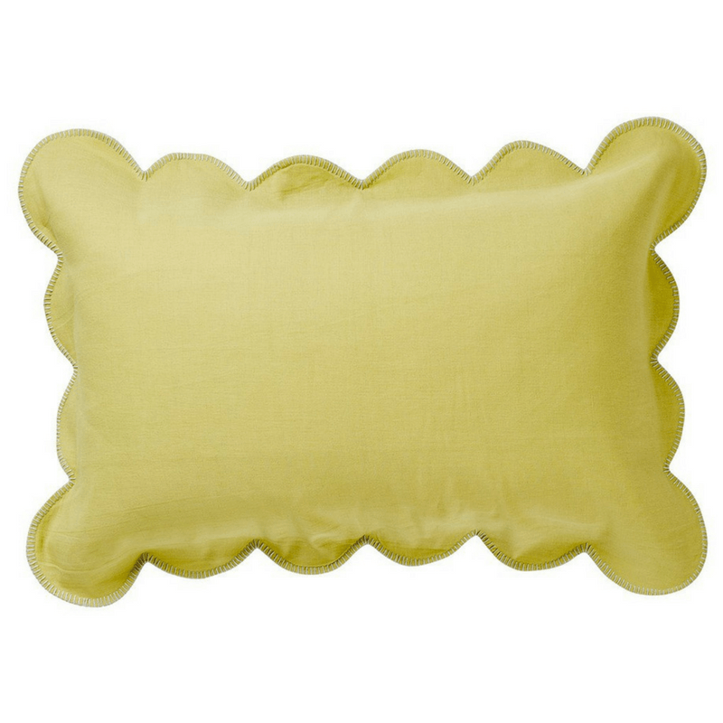 SAGE & CLARE | Willow Scallop Pillowcase CHARTREUSE | Shut the Front Door