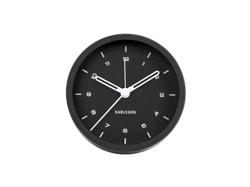 Karlsson | Alarm Clock Tinge Black | Shut the Front Door