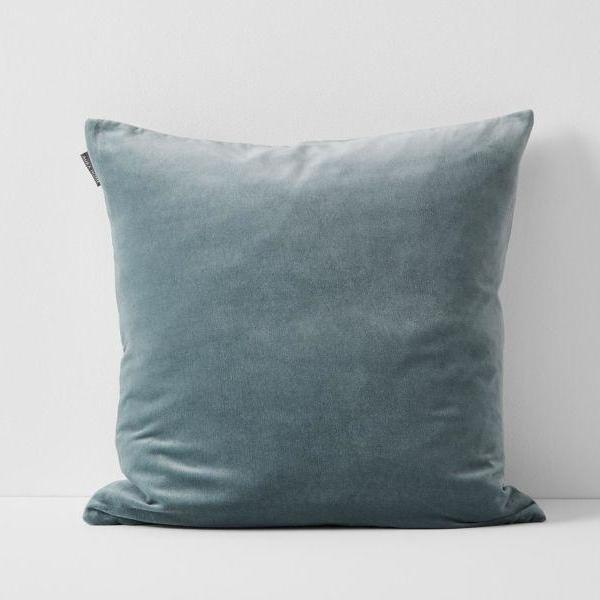 Aura | Aura Lux Velvet Cushion EUCALYPTUS | Shut the Front Door