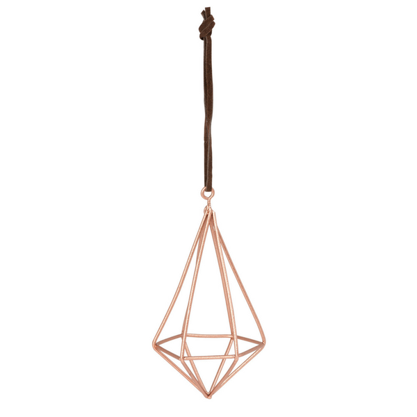 Diamond Wire Tall Copper Decoration