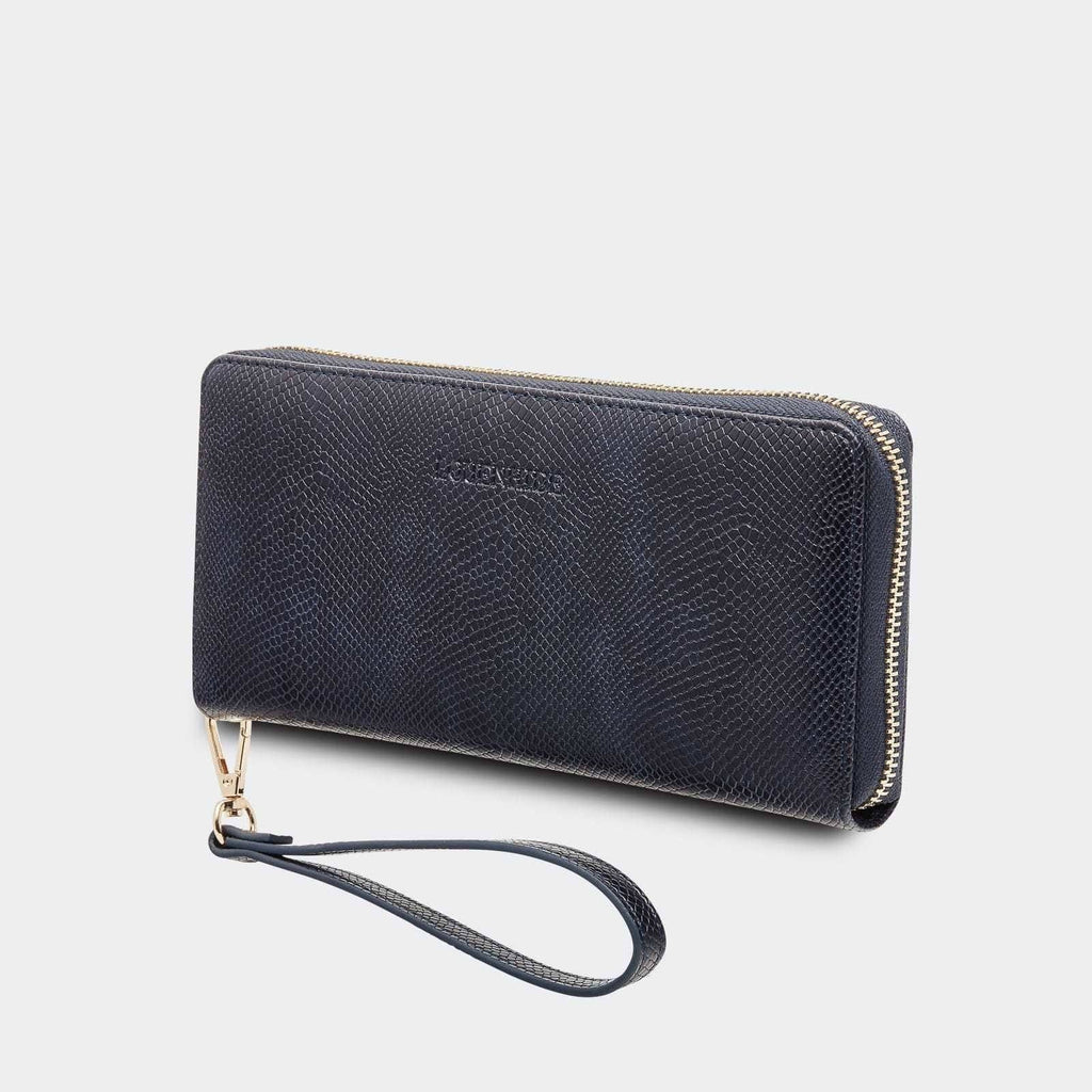 Louenhide | Jessica Wallet - Snake Navy | Shut the Front Door