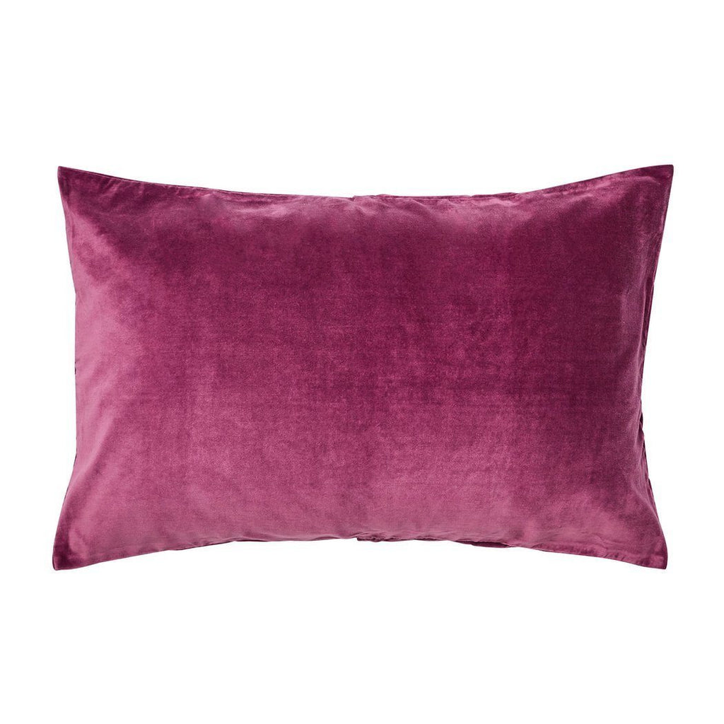 SAGE & CLARE | Olivier Velvet Pillowcase Ruby | Shut the Front Door