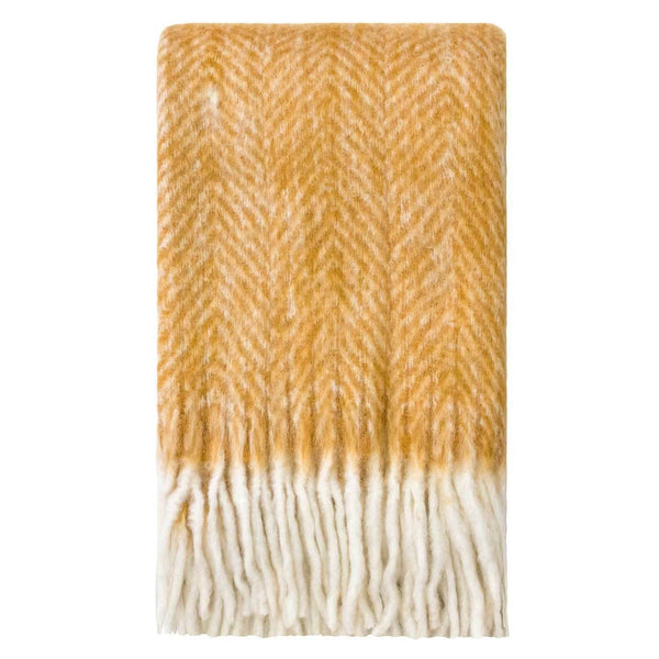 Kerridge Linen | Bliss Mohair Blend Herringbone Throw WOOD THRUSH | Shut the Front Door