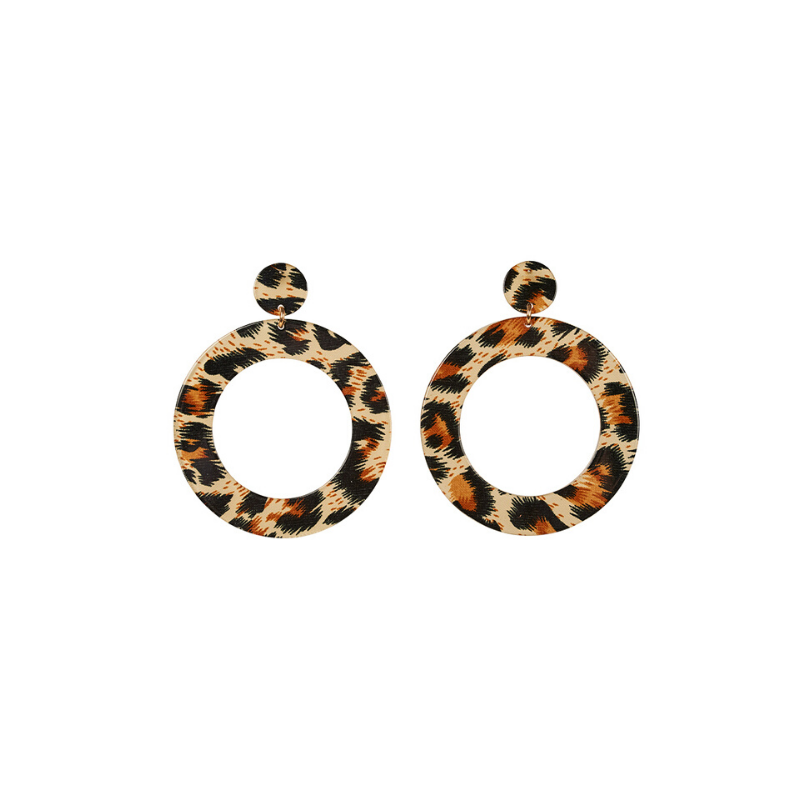 eb & ive | Maya Loop Earring - Leopard | Shut the Front Door