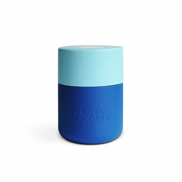 Frank Green | Frank Green Smart Cup 8oz Navy/Light Aqua/White | Shut the Front Door