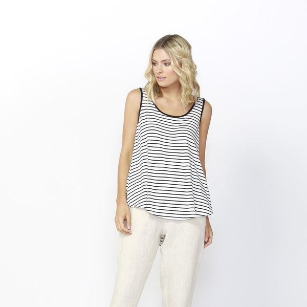 Betty Basics | Boston Tank Black/White Stripe | Shut the Front Door