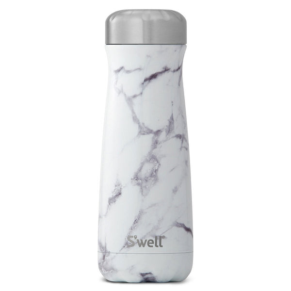 S'Well | S'Well Drink Bottle 590ml Traveller Elements Collection White Marble | Shut the Front Door