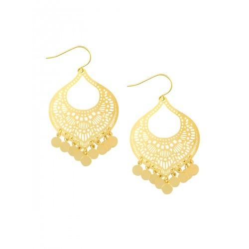 Tiger Tree | Earrings Gold Moroccan Tinkle | Shut the Front Door