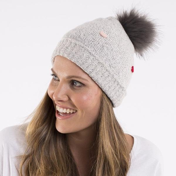 Elm Knitwear | Dot Pom Pom Beanie GREY MARLE | Shut the Front Door