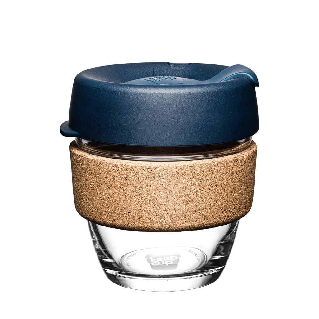 KeepCup | KeepCup Cork 8oz Reusable Glass Coffee Cup - Spruce | Shut the Front Door