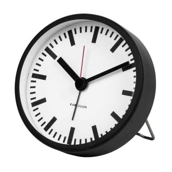 Karlsson | Alarm Clock Classic Black | Shut the Front Door