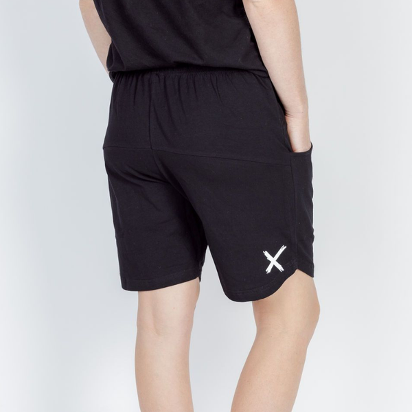 Home-lee | Apartment Shorts - Black with White X | Shut the Front Door