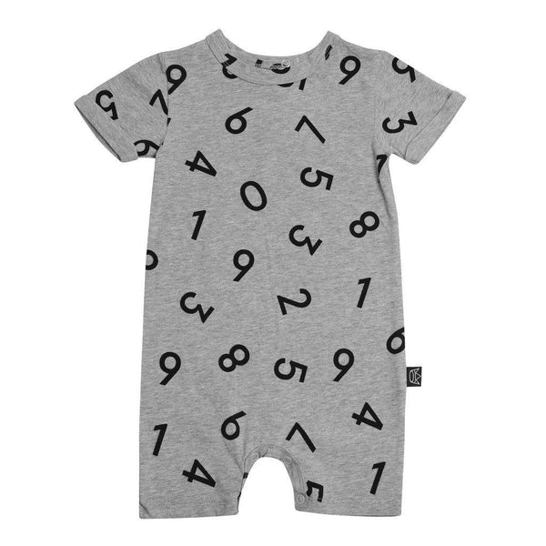 Kipp Kids | Short Sleeve Romper - Numbers | Shut the Front Door