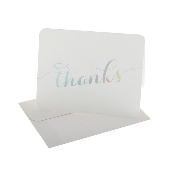 hiPP | Thank You Cards & Envelopes White with Holographic Foil | Shut the Front Door