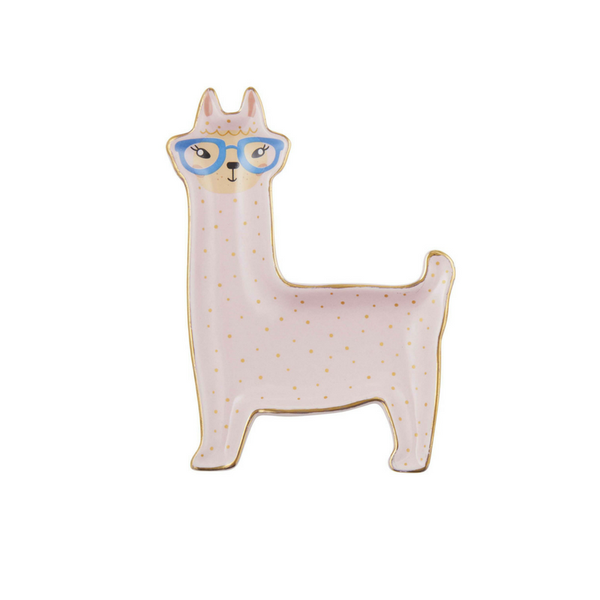 Emporium | Larry Llama Trinket Plate BLUSH | Shut the Front Door