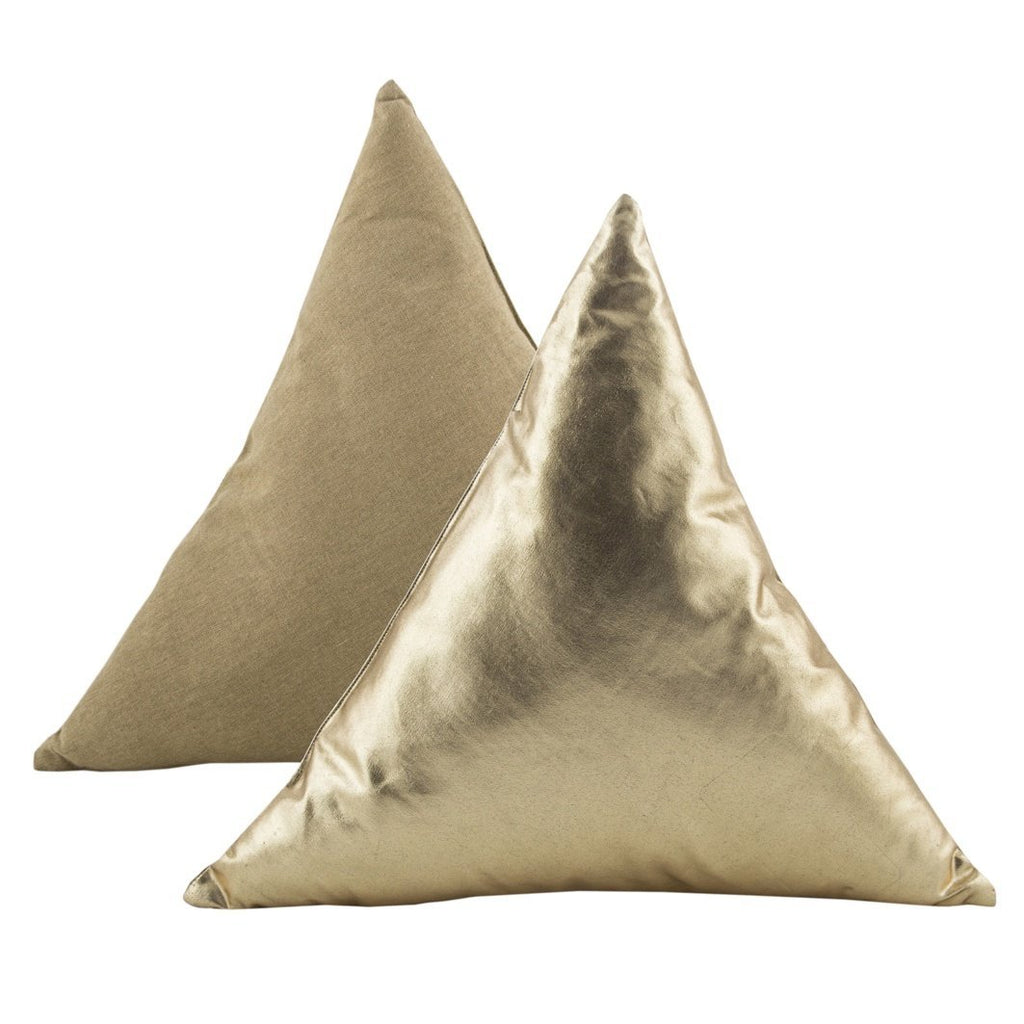 Parnell | Cushion Triangle Foil Gold 45x45 | Shut the Front Door