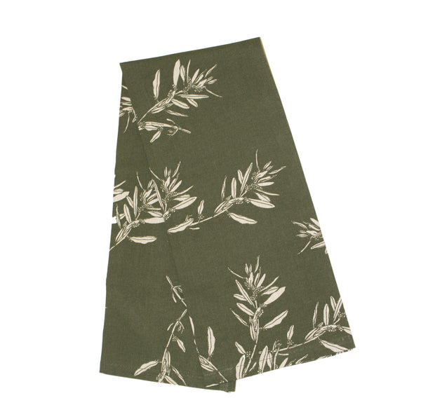 Raine & Humble | Olive Grove Tea Towel - Olive | Shut the Front Door