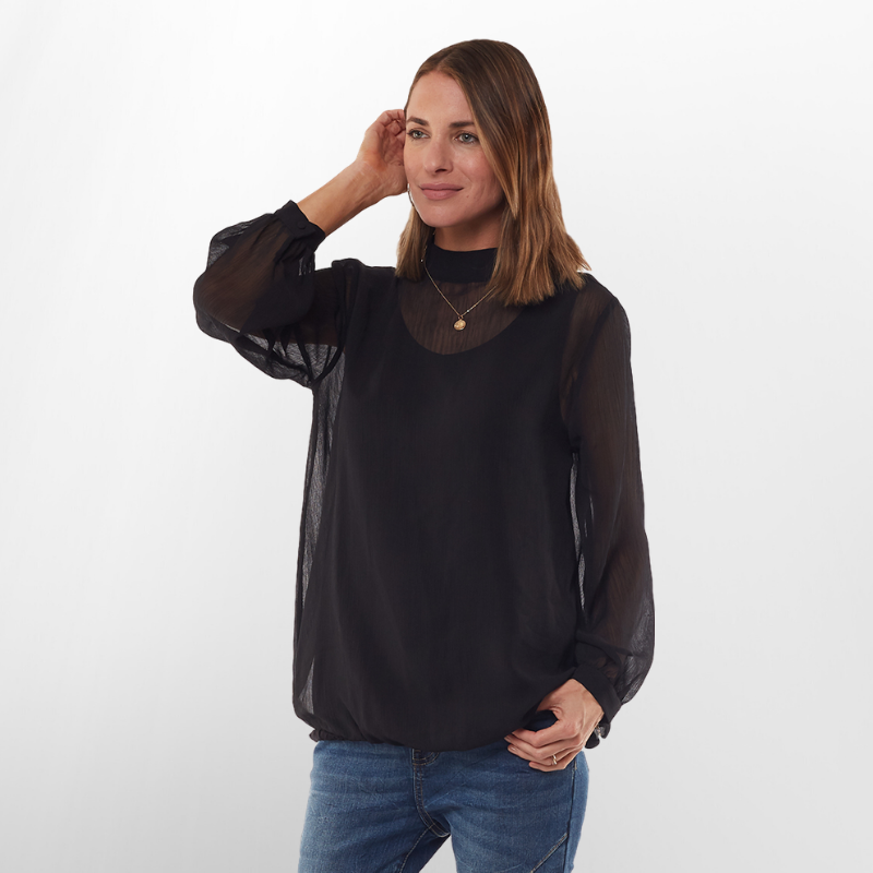 Foxwood | City Lights Top - Black | Shut the Front Door
