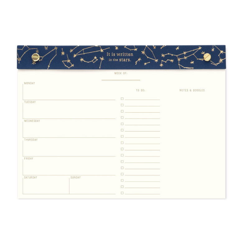 Designworks | Weekly Undated Desk Planner - Constellations | Shut the Front Door