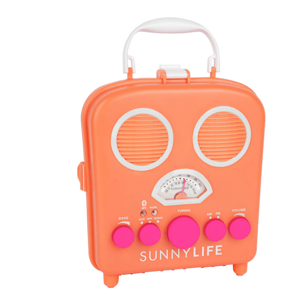 Sunnylife | Beach Sounds Apricot Speaker & Radio | Shut the Front Door