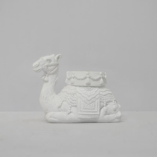 White Moose | Camel Candle Holder WHITE | Shut the Front Door