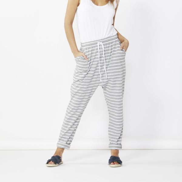 Betty Basics | Jade Pants Silver/White Stripe | Shut the Front Door
