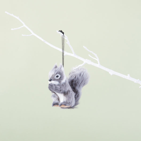 Down to the Woods | Squirrel Hanging Decoration Grey | Shut the Front Door