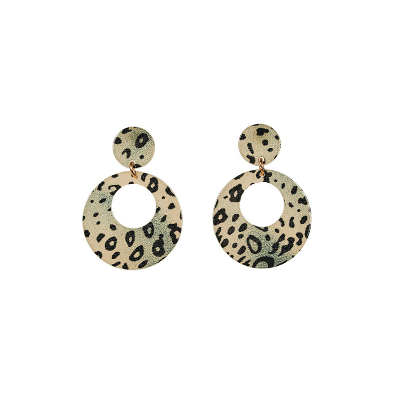 eb & ive | Maya Round Earring - Snake | Shut the Front Door