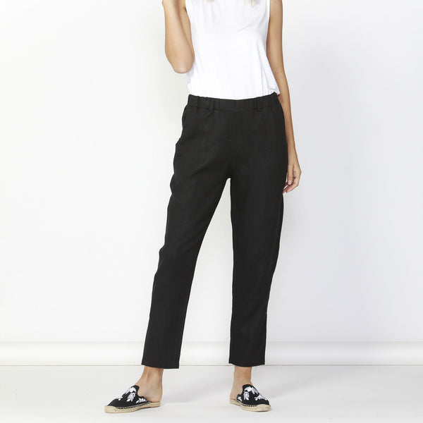 Betty Basics | Rocco Linen Pant Black | Shut the Front Door