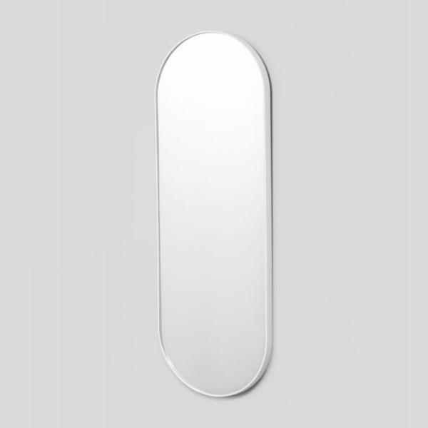 Middle of Nowhere | Bjorn Oval Full Length Mirror - White | Shut the Front Door