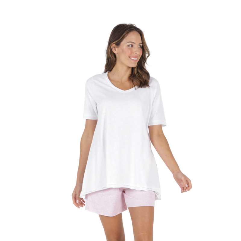 Betty Basics | Noosa Tee - White | Shut the Front Door
