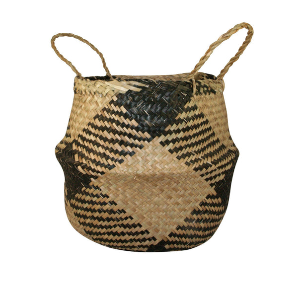 General Eclectic | Seagrass Belly Basket Plaid | Shut the Front Door