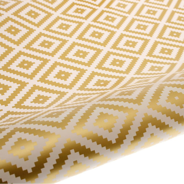 hiPP | Wrapping Paper - Aztec Gold | Shut the Front Door