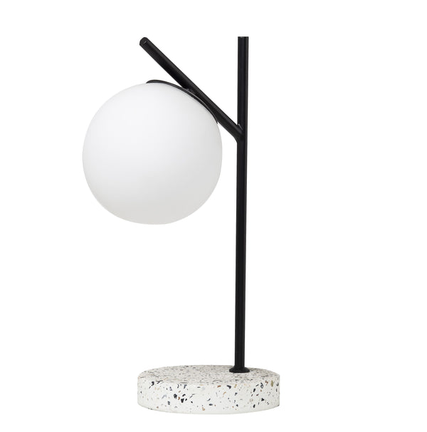 Amalfi | Flo Table Lamp - White & Black | Shut the Front Door