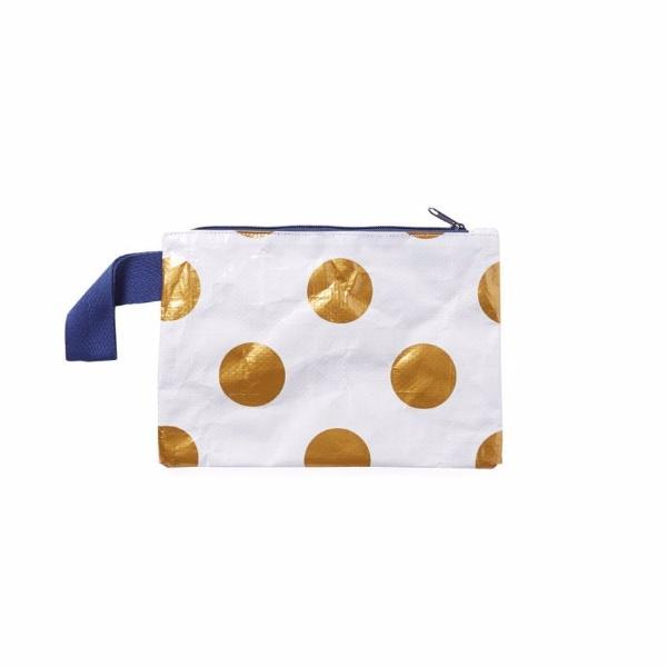 Project Ten | Mini Zip Pouch GOLD DOT | Shut the Front Door