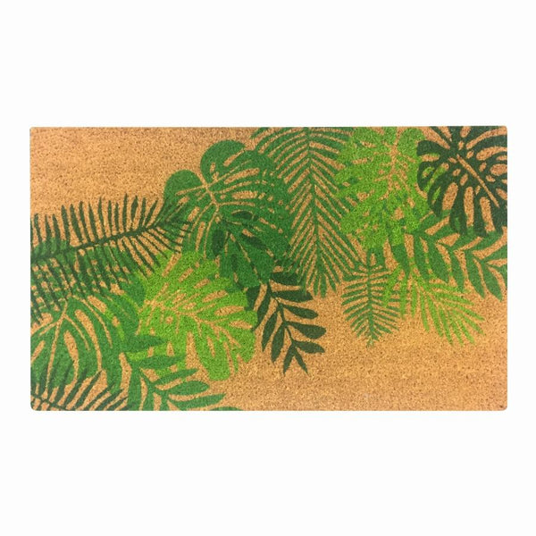 General Eclectic | Doormat Tropical Leaf | Shut the Front Door