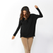 Betty Basics | Lucy Rib Oversized Top - Black | Shut the Front Door