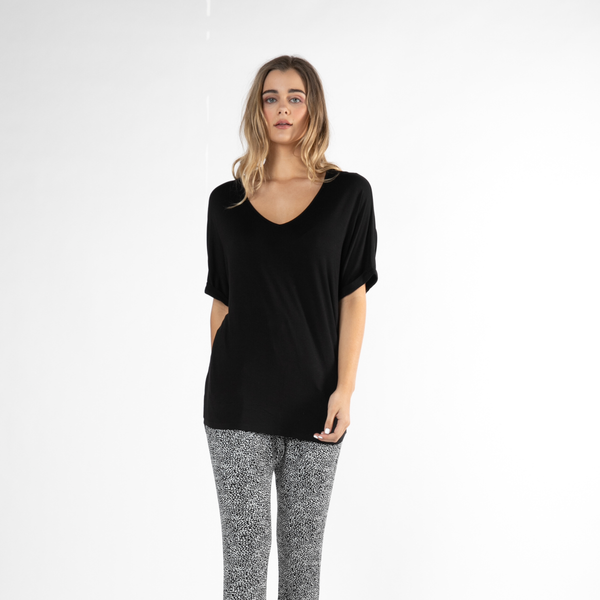 Betty Basics | Granada Tee - Black | Shut the Front Door
