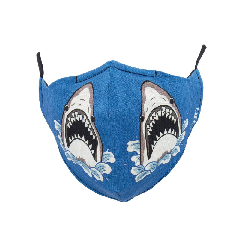 Socksmith | Face Mask Shark Attack - Blue | Shut the Front Door