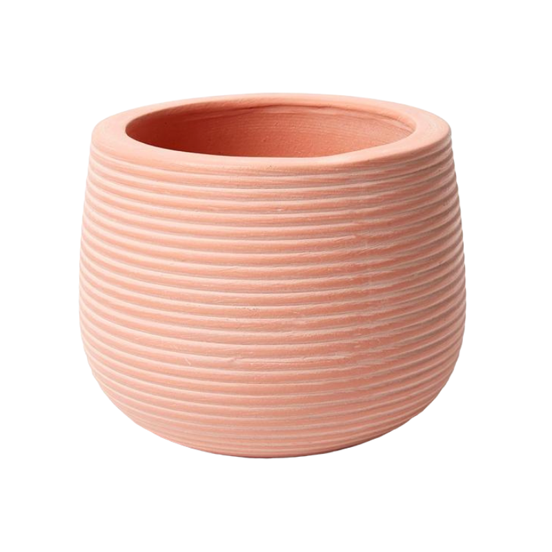 Jones & Co | Groove Plant Pot - Nectarine | Shut the Front Door