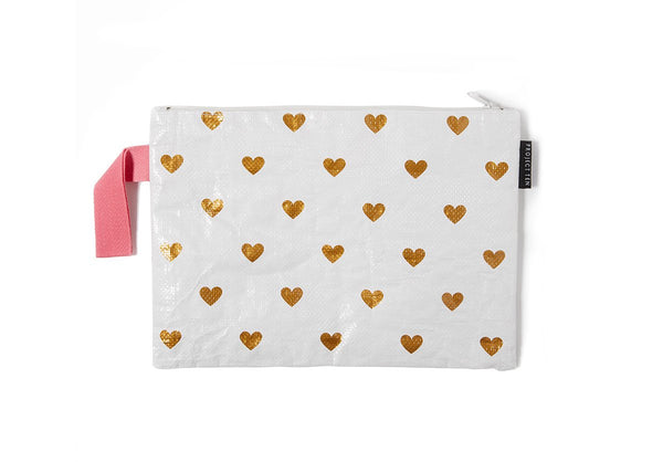 Project Ten | Zip Pouch - Hearts | Shut the Front Door