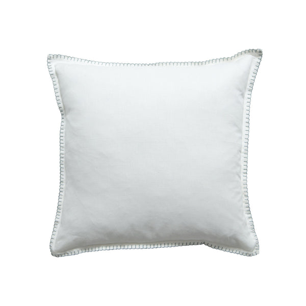 Milk & Sugar | Cushion Blanket Stitch WHITE | Shut the Front Door