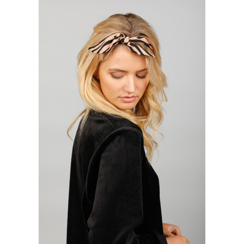 Holiday Accessories | Head Scarf - Tan Zebra | Shut the Front Door