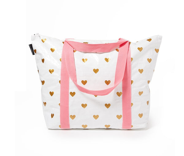 Project Ten | Zip Up Medium Tote Bag - Hearts | Shut the Front Door